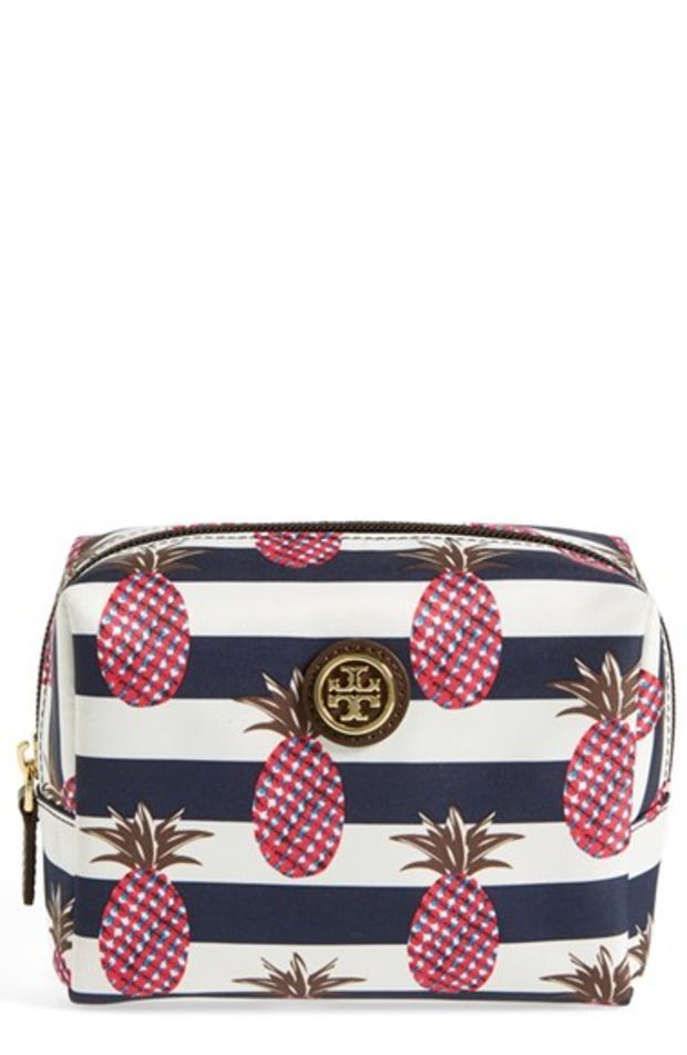 67ca9f3be9c Women s Tory Burch  Brigitte  Nylon Cosmetics Case - Pineapple Stripe