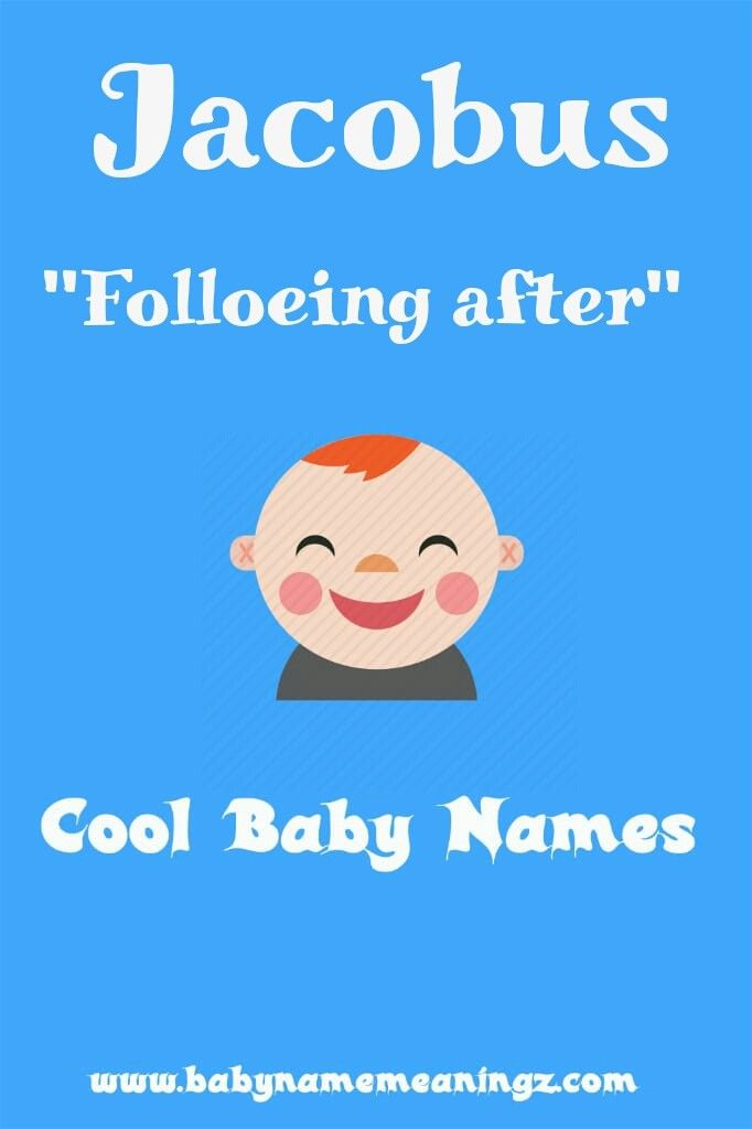 Name: Jacobus Gender: 'Boy' Meaning: 'Following after ...