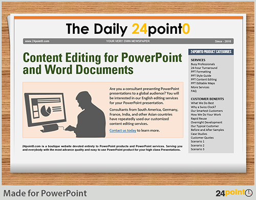 Using Editable Newspaper Powerpoint Template In Business