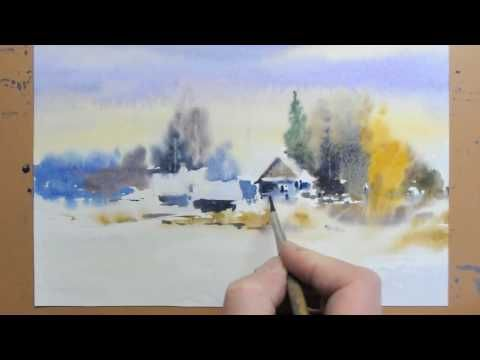 Simple Landscape In Watercolor Paint With David Youtube