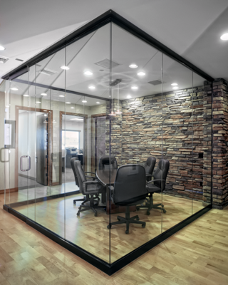 Glass Conference Room With Glass Wall Office Conference Room Design Commercial Interiors Blog Jpg Glass Office Partitions Glass Wall Design Glass Wall Office