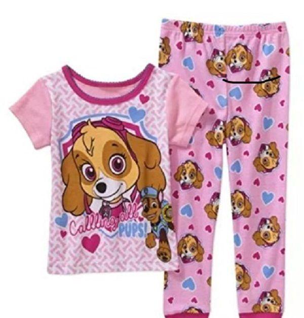 Paw Patrol Toddler Boys Brave /& Strong 2pc Pajama Short Set Size 2T 3T 4T