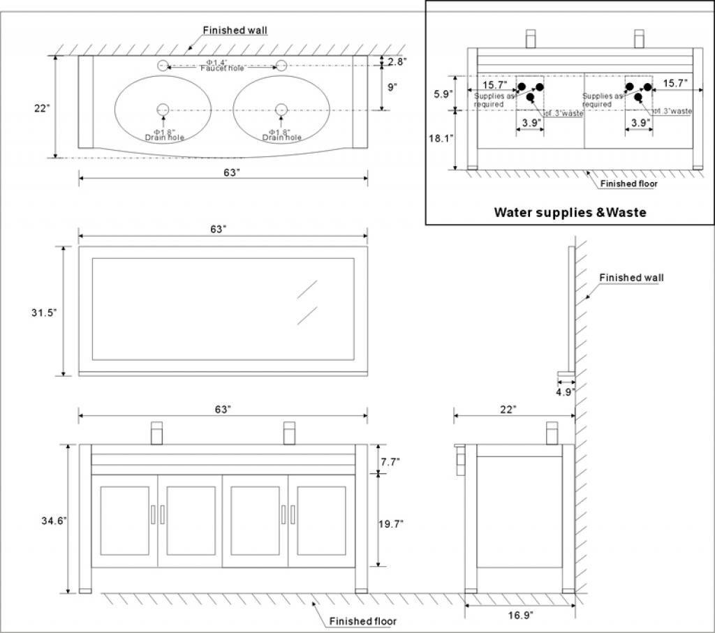 Amazing Standard Bathroom Counter Height Standard Bathroom