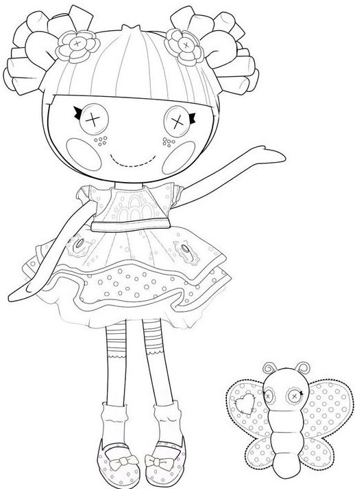 lalaloopsy blossom flower pot colouring page