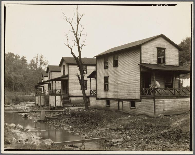 Scott S Run Mining Camps Near Morgantown West Virginia Company Houses Along Run West Virginia Morgantown Virginia