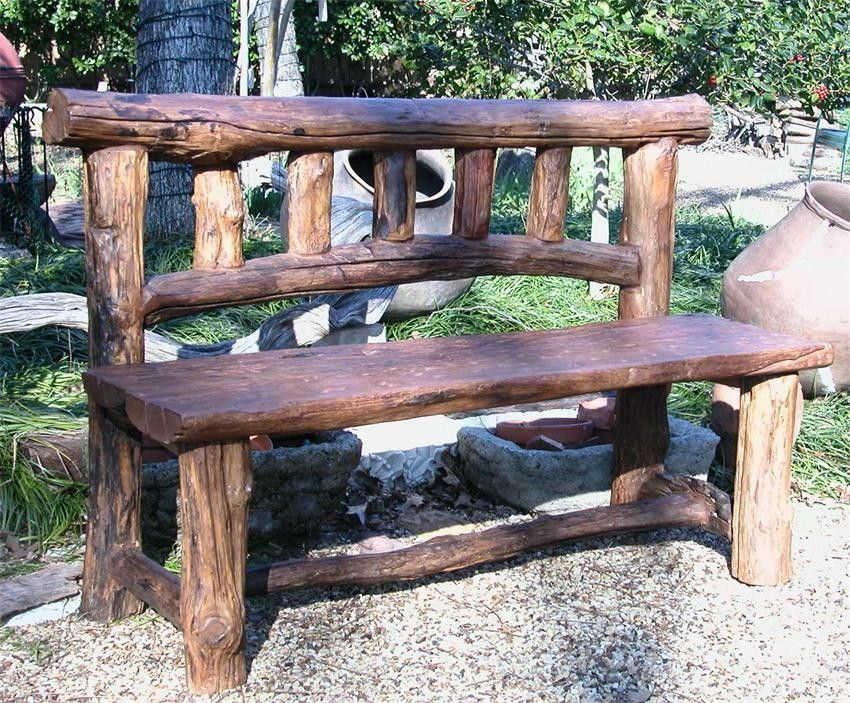 15 Awesome Rustic Wood Garden Bench Ideas Go Travels Plan Rustic Outdoor Benches Garden Furniture Design Garden In The Woods