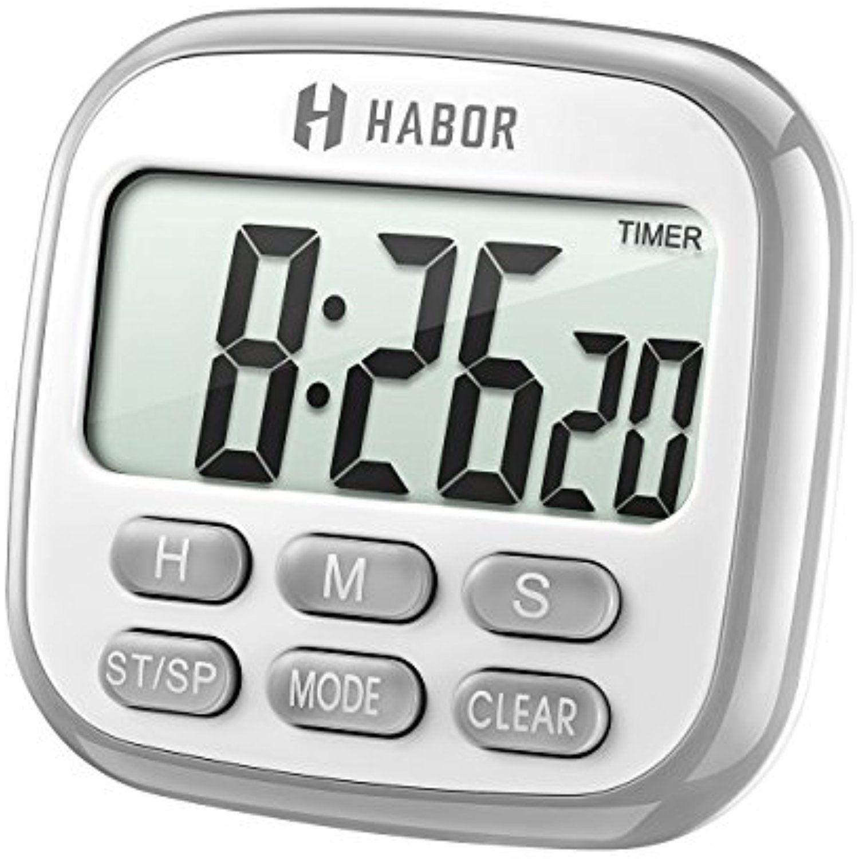 HABOR Digital Kitchen Timer, Cooking Timer, Large Display, Strong ...