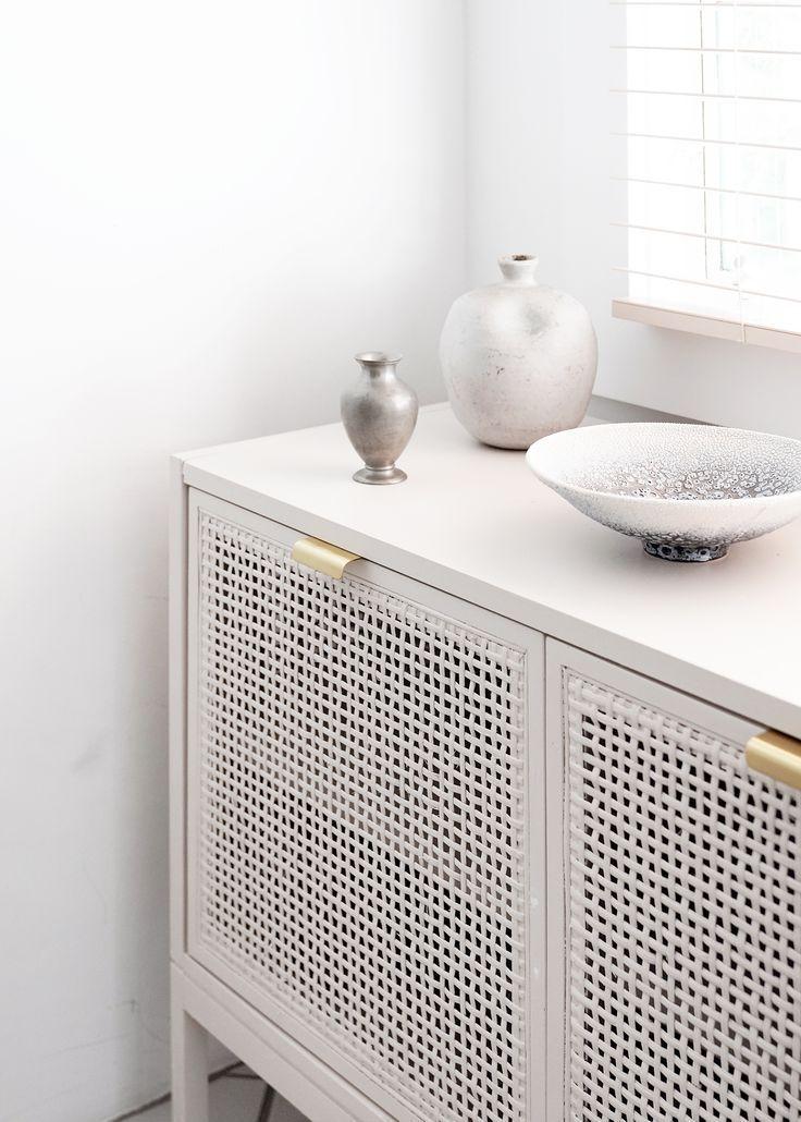 Our DIY Rattan Cabinet Kitchen Storage How-To! - Anne Sage