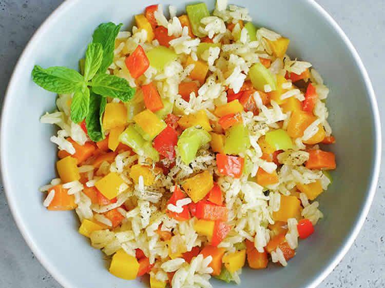 Riz basmati aux légumes au thermomix | Recette | Recettes ...