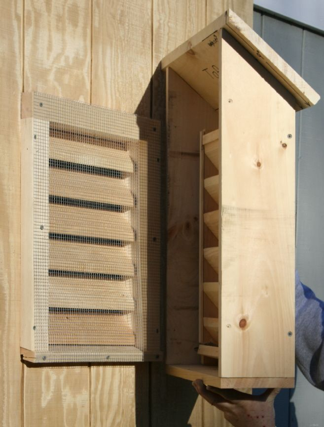 Bat House Suburban Installed Over The Existing Gable Vent