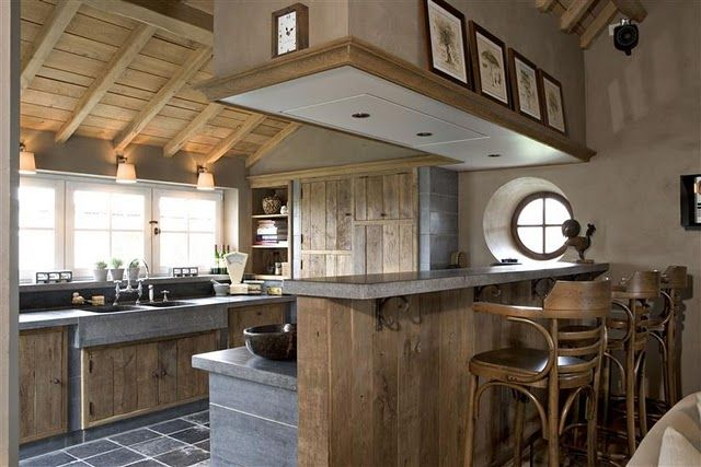 Decoracion rustica de casas y viviendas frentes y for Decoracion cocinas rusticas campo