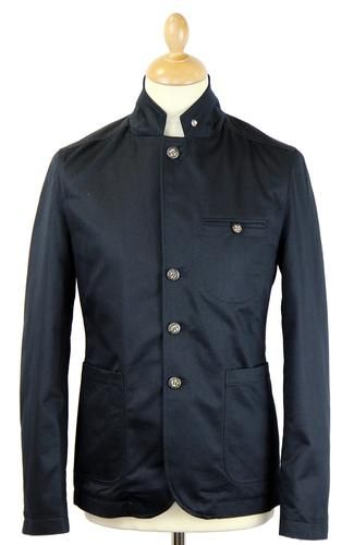 Frey PETER WERTH Retro 60s Mod Military Blazer back in stock for SS14 in this cool dark navy colour way. http://www.atomretro.com/product_info.cfm?product_id=13064 #peterwerth #freyblazer