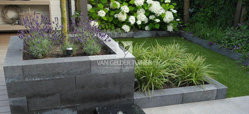 Magnifiek Stenen bloembakken met stapelblokken | Ideas/future endeavors @QQ63