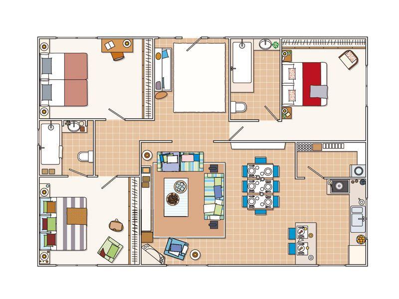Planos de casas pequenas con recibidor for Planos de viviendas pequenas