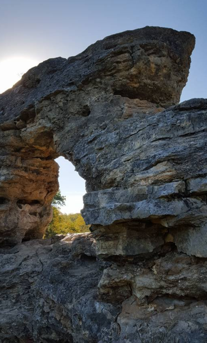 The geological oddities found at this park have a history that dates back to 300 million years ago.