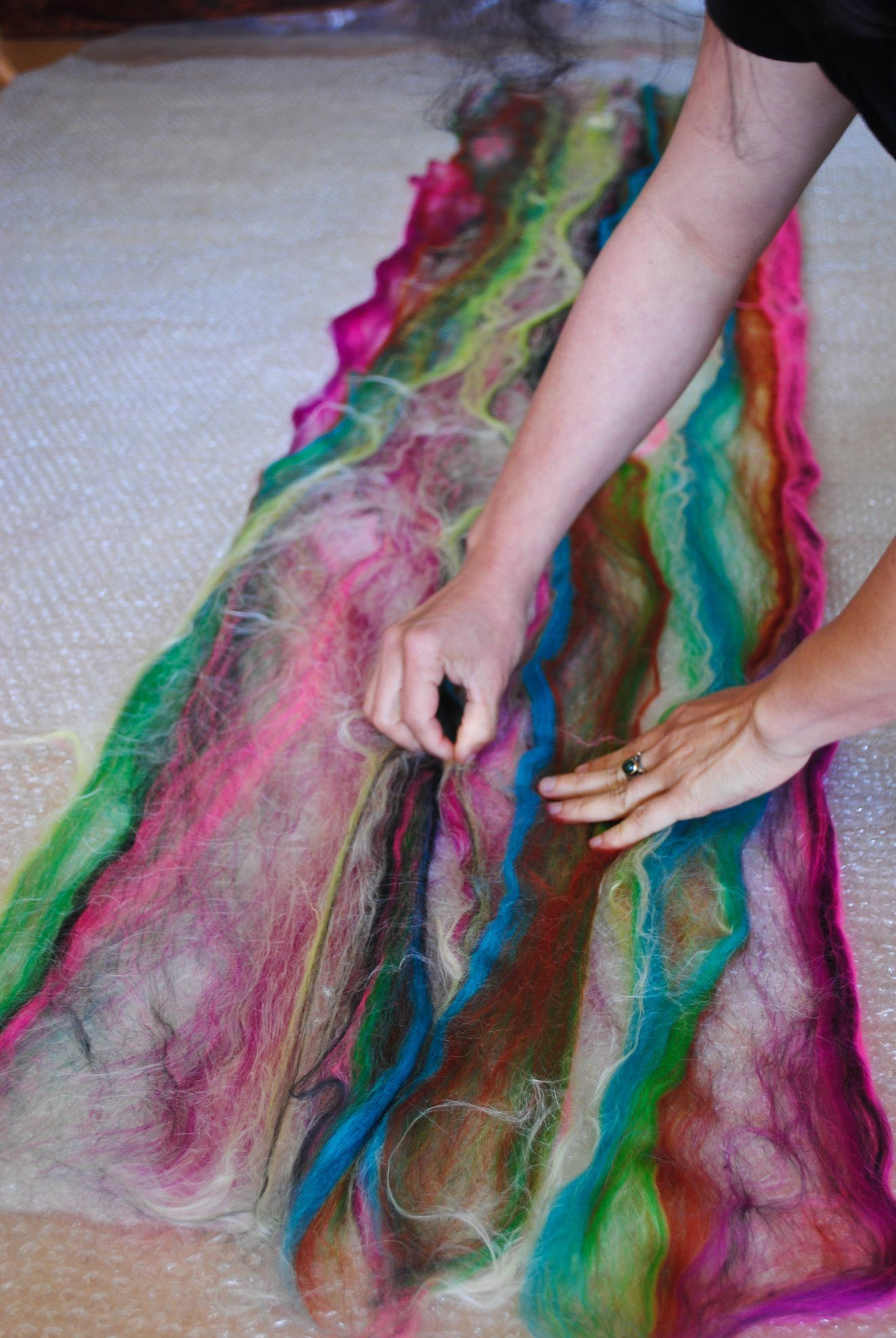 Easy Felted Scarf