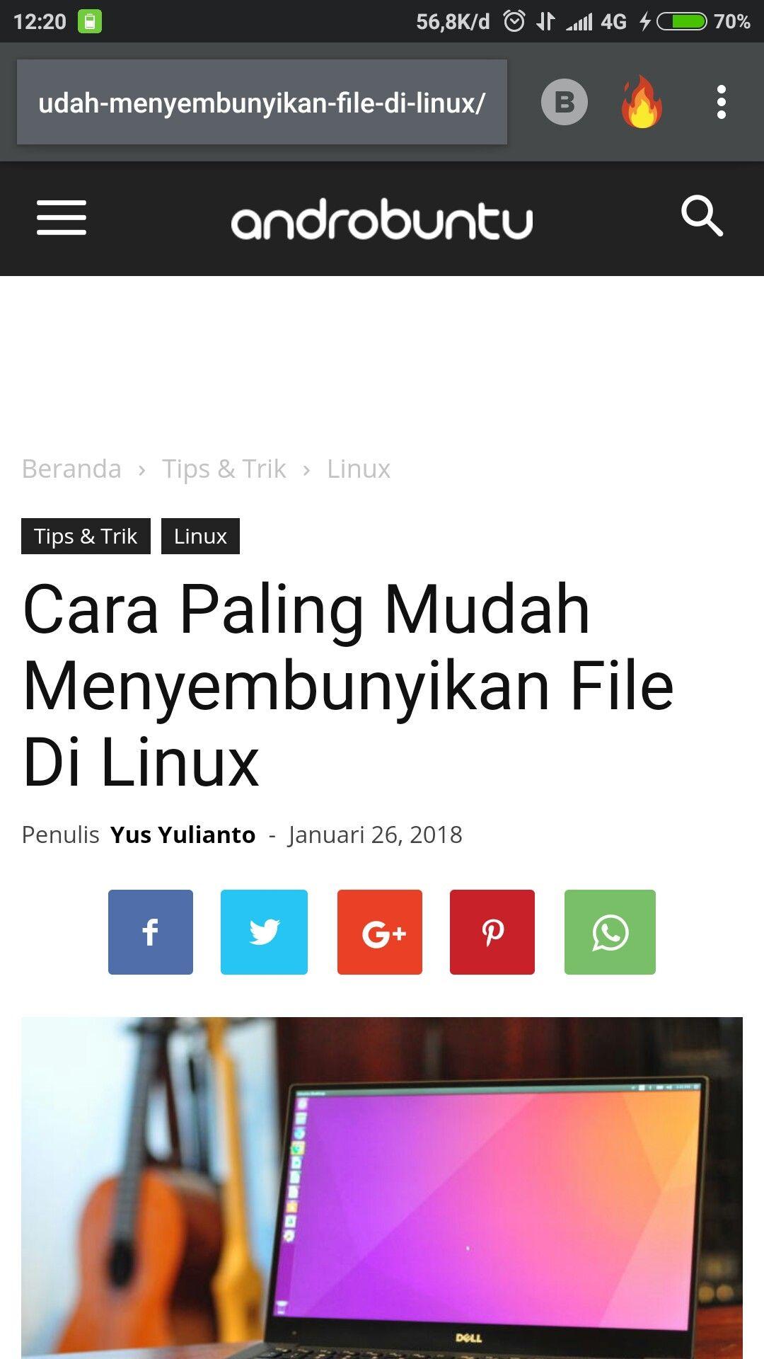 Cara paling mudah menyembunyikan file di Linux. Baca