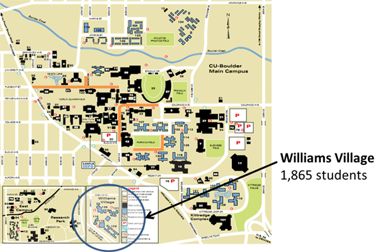 Cu Boulder Campus Map Residential Choose Where To Live Worksheet