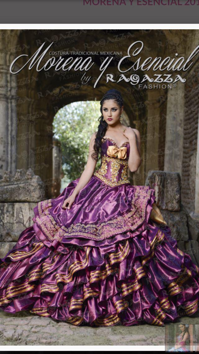 Dorado Con Morado Vestidos Traje Típico Y Trajes Tipicos