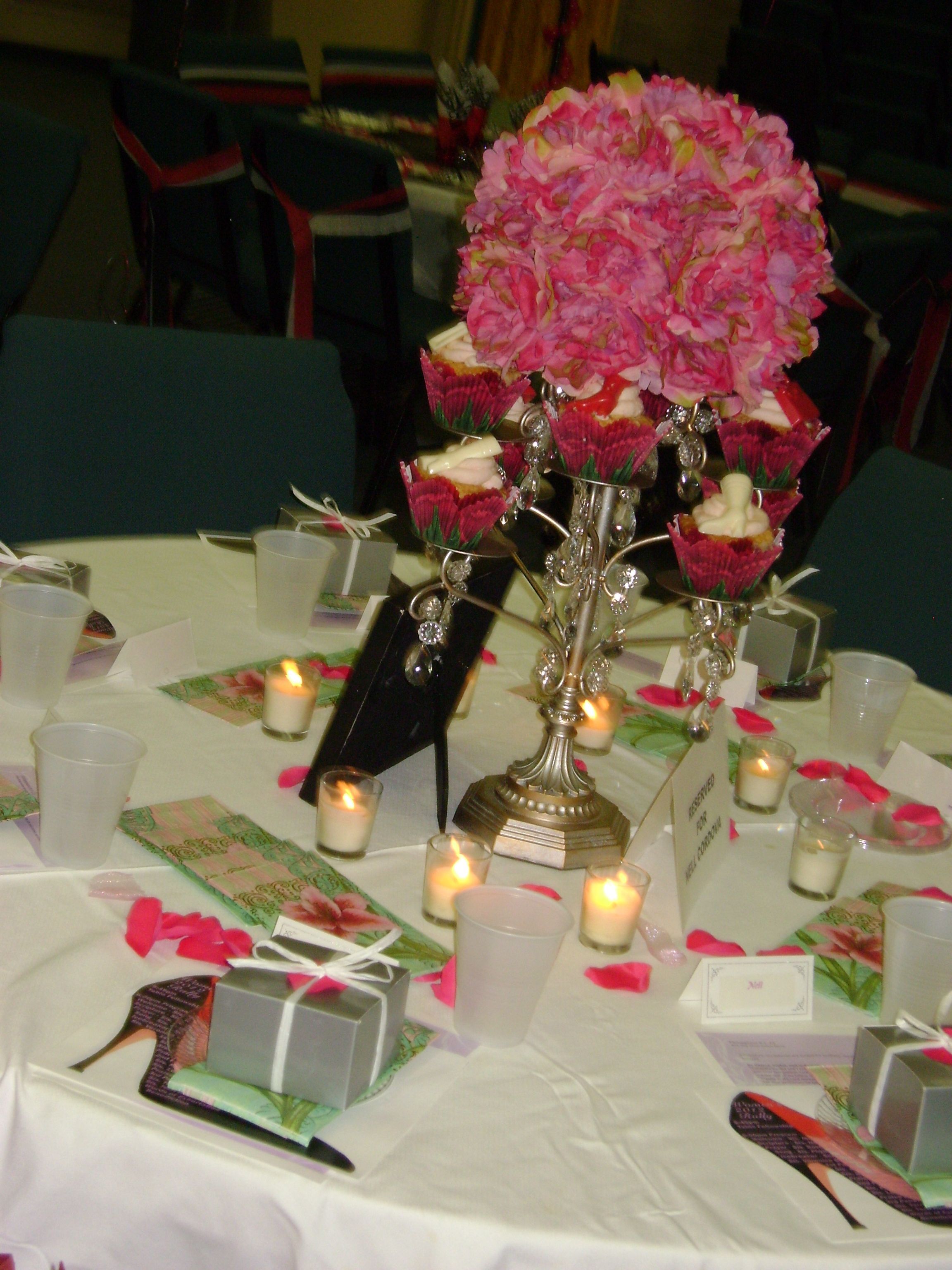 Table centerpeace for Church women's event. Theme: Walking ...