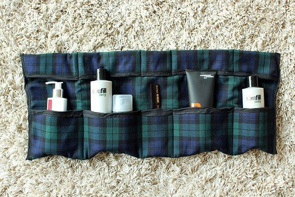 Tutorial: Roll up travel toiletry organizer – Sewing