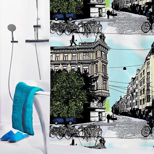 Vallila Bulevardi Extra-Long Shower Curtain