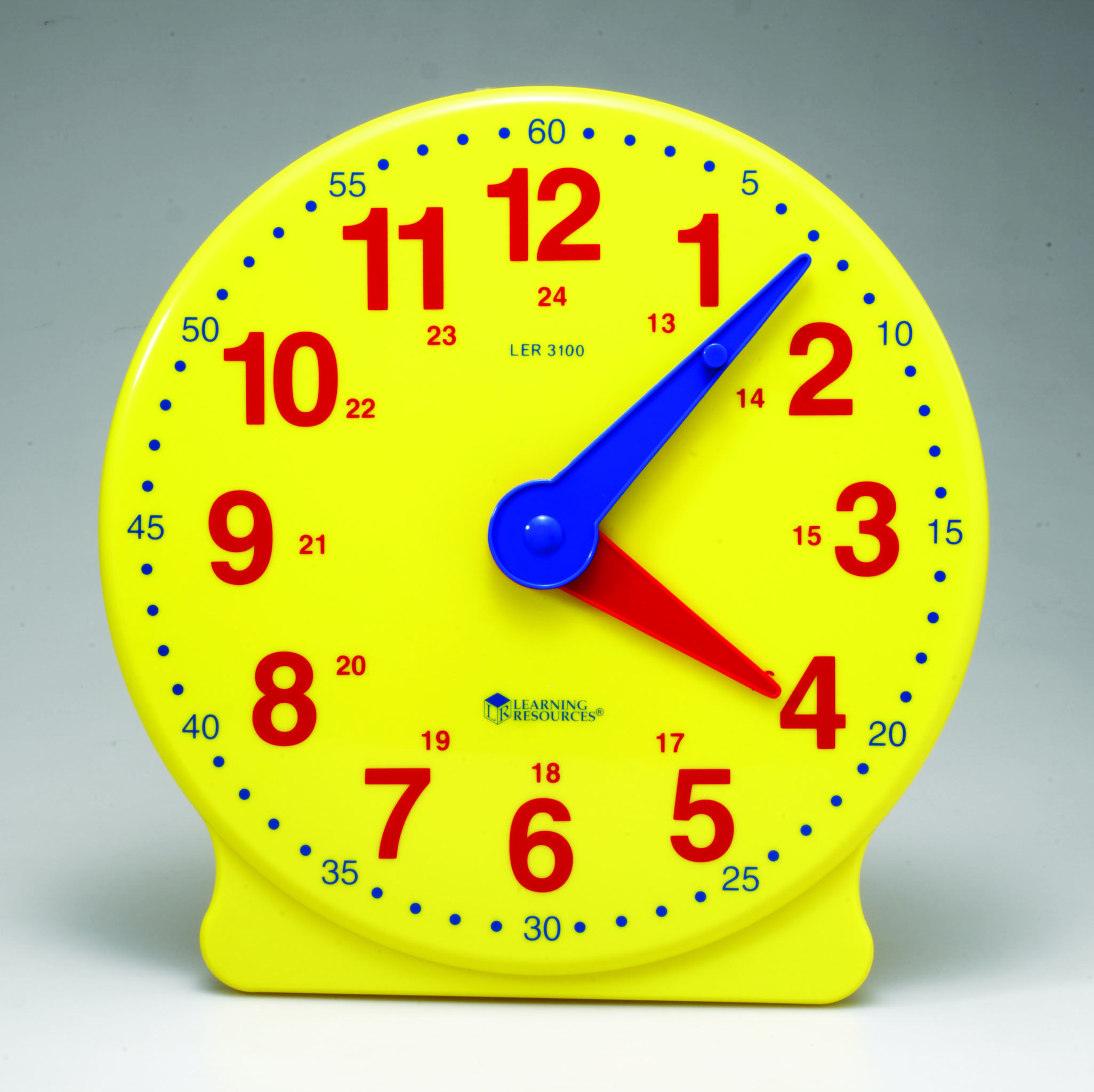 Big Time Learning Clock Durable Plastic Clock With Hidden
