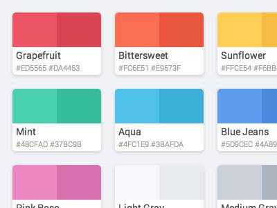 flattastic pro color palette - html / css | flat design, ui design