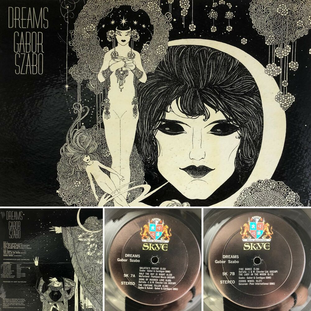 Details About Gabor Szabo Dreams Lp Sk 7 Jazz Skye Stereo Gatefold Vinyl Vg Tested Vinyl Jazz Rock N Roll