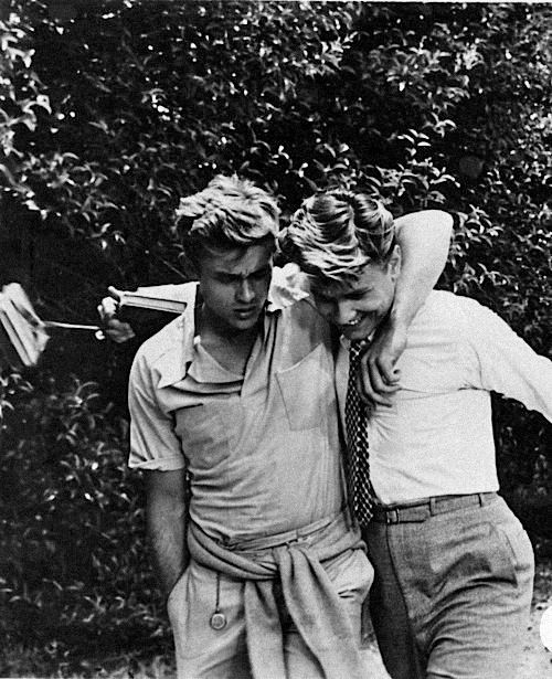 James Dean and Richard Davalos on the set of East of Eden