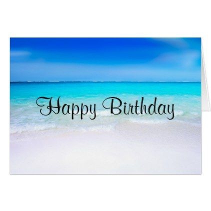 Tropical Beach With A Turquoise Sea Birthday Card Zazzle Com