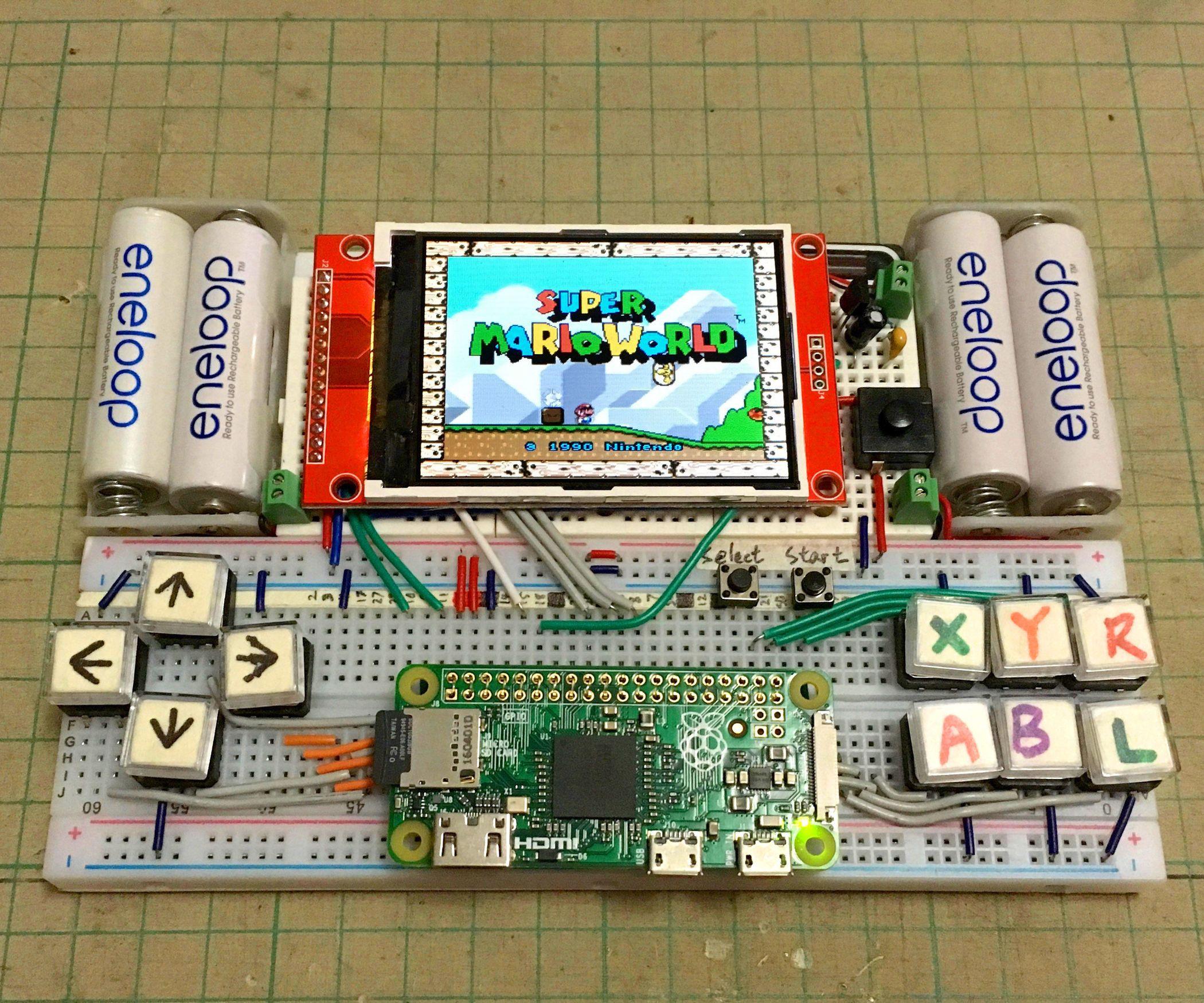 Breadboard RetroPie 3D Printing, Raspberry pi projects
