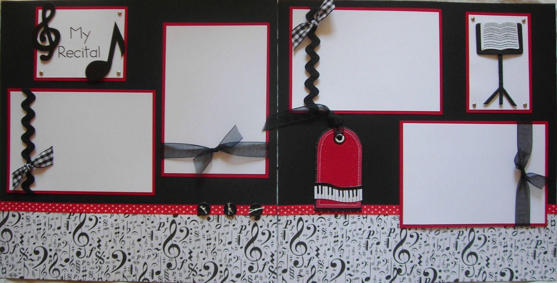 Scrapbook ideas music - My recital 12x12 premade scrapbook pages music violin piano 13 50 via etsy