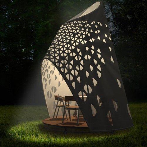 Unique outdoor dining creations.