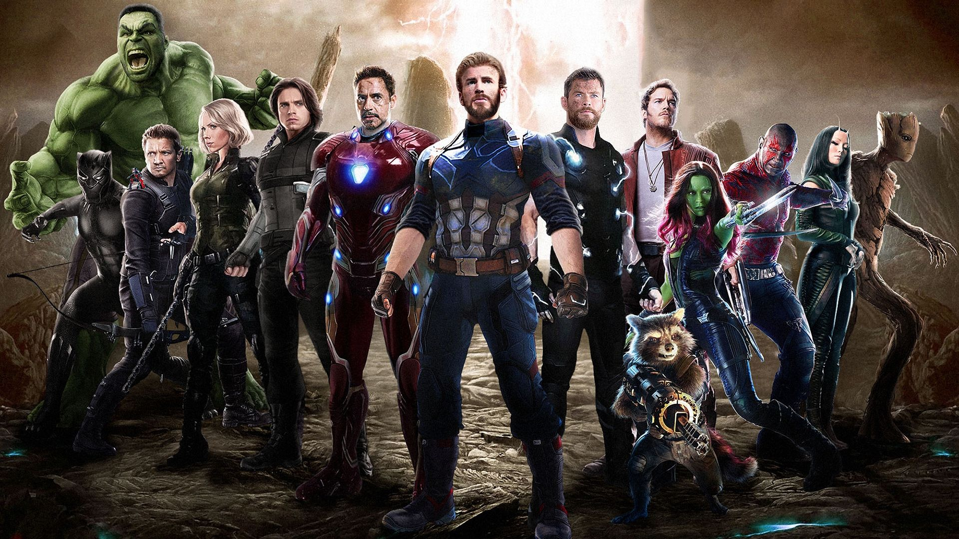 avengers: infinity war movie cast captain america, iron man, thor