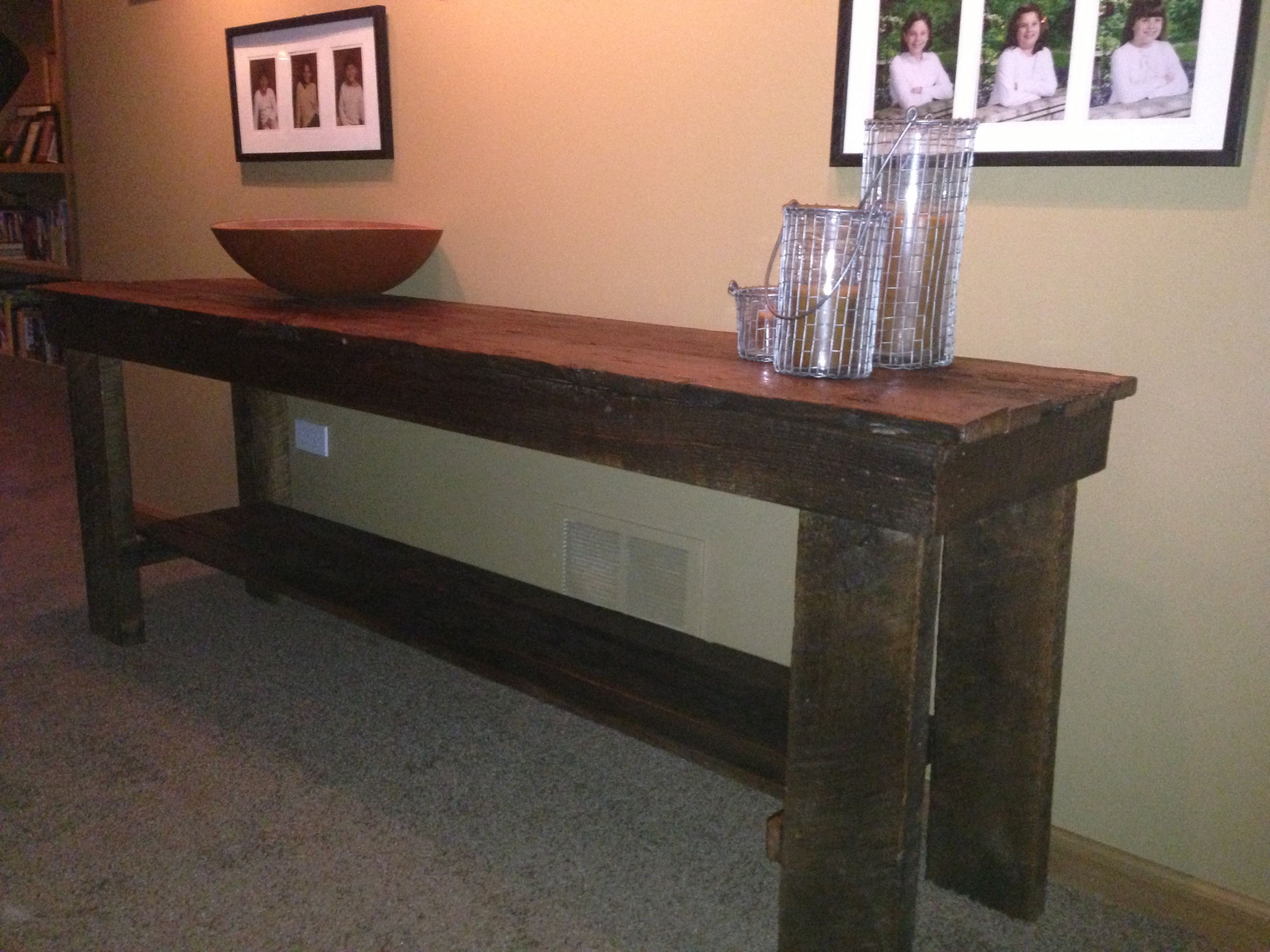Dans Making Furniture Out Of Reclaimed Barn Wood! All Custom!