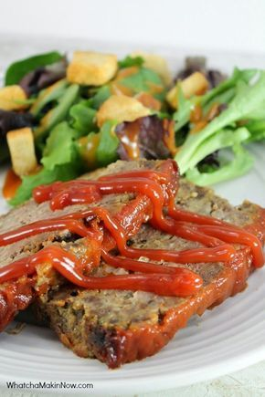 Meatloaf Using Ground Venison Using A Pound Of Our Vension Sausage And 1 Pound Lean Ground Beef Venison Recipes Deer Recipes Deer Meat Recipes
