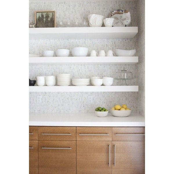White Floating Shelves Kitchen: Modern Kitchen Cabinets White Quartz