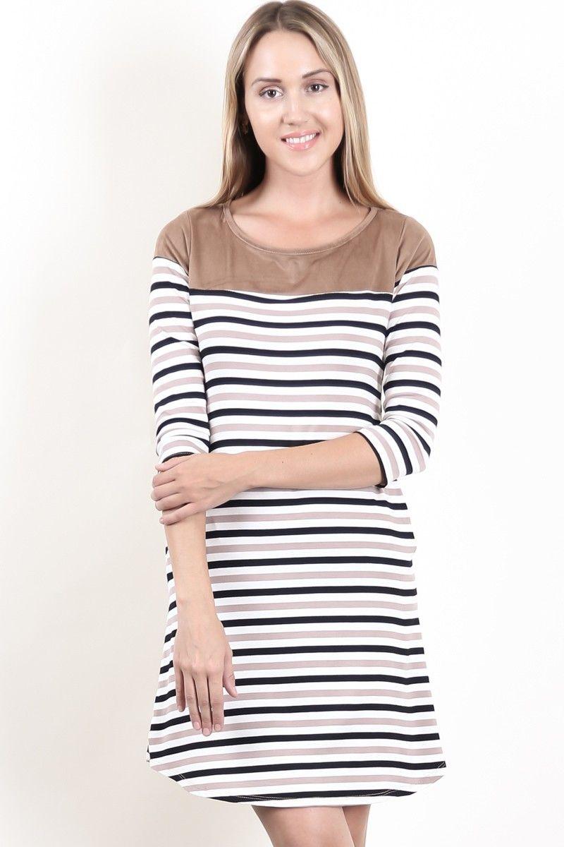 Платье цвет серо-коричневый