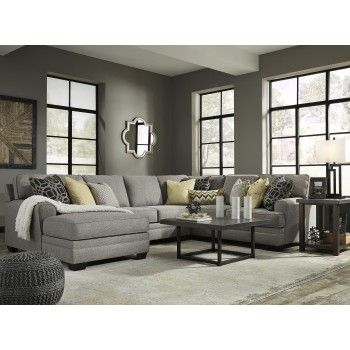 Get Your Cresson   Pewter 4 Pc. LAF Chaise Sectional At Furnish 123 Moline, Davenport  IA Furniture Store.