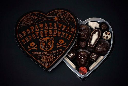 Halloween Edition Of The Fatally Yours Chocolate Box Available Now Vegan Treats Halloween Chocolate Treats Halloween Chocolate