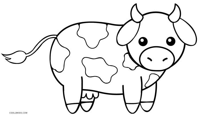 Image Result For Cartoon Cow With Spots Color Page Farm Animal