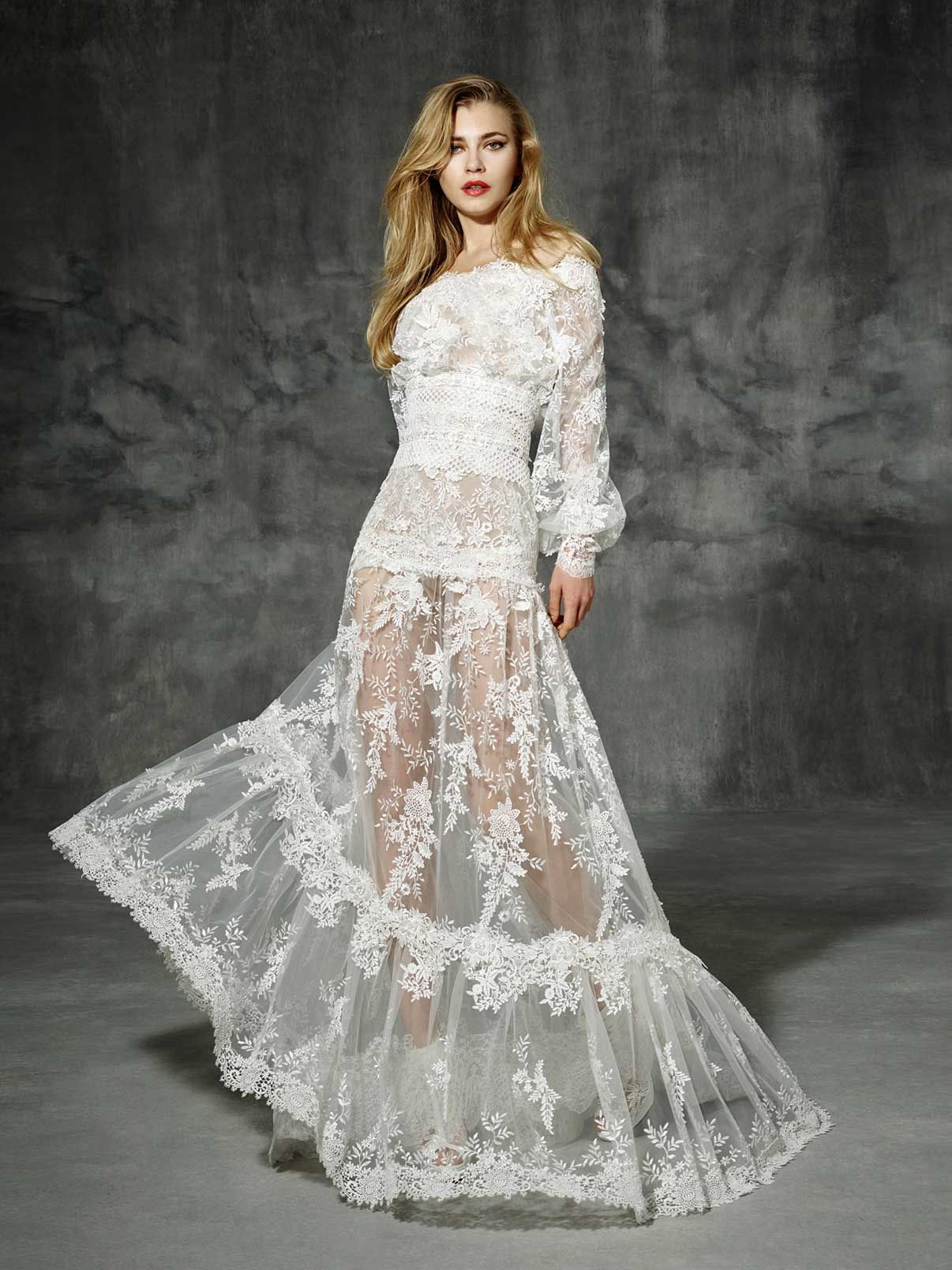 Yolancris boho chic wedding dress and boho folk bridal looks with