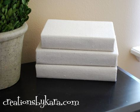 How to cover a book with fabric for a cohesive look from @Kara Cook (Creations by Kara)