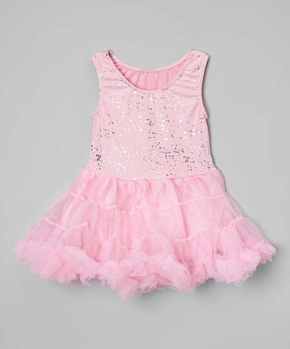 Pink Glitter Pettiskirt Dress - Toddler & Girls