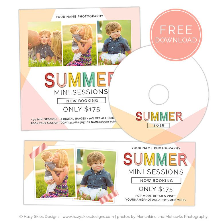 FREE Summer Mini Session Template for Photoshop #photography #mini - free album templates