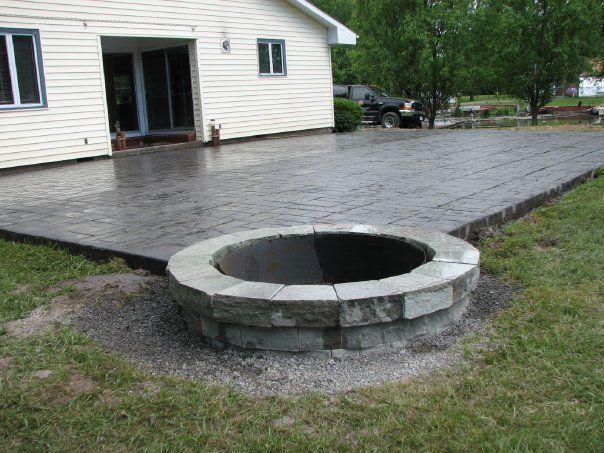 Incredible Concrete Patio Ideas With Fire Pit Concrete Patio Designs  Layouts Design Decorating 823506 Patio #deckbuildingconcretepatios