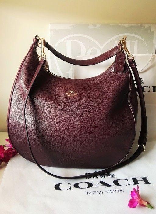 5b0471b1f9 Precioso bolso Coach Harley GR burgundi - vinted.es Clarks, Fashion Bags,  Zara