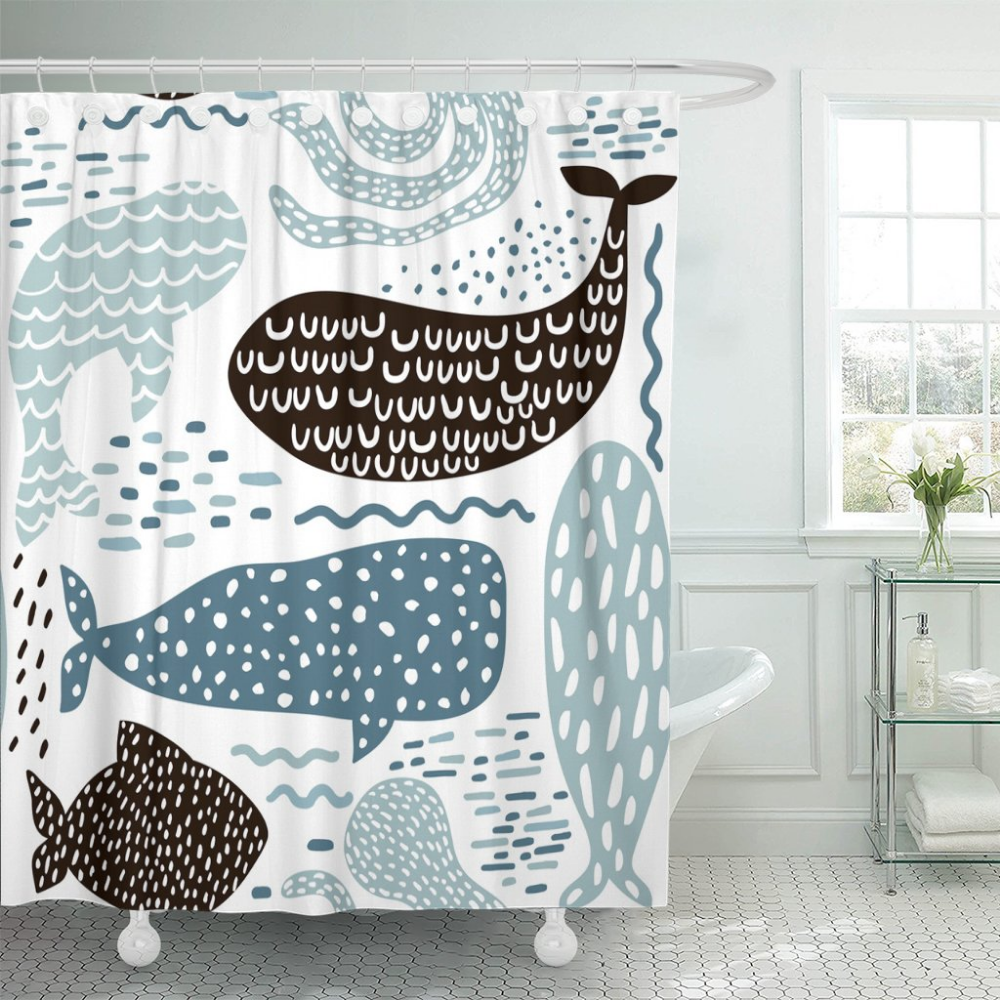 Amazon Com Emvency Shower Curtain Sea Animal Fur Seal Whale