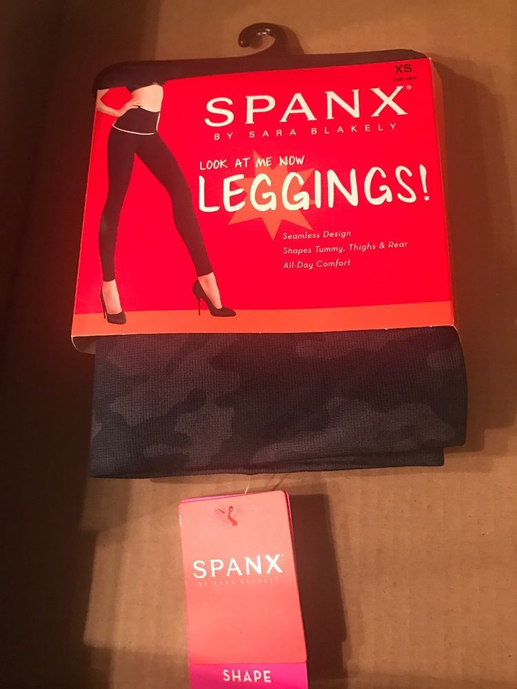 e955d2d795a26f Spanx Look At Me Now Leggings Black Camo Seamless Shaping Women's Size XS # fashion #clothing #shoes #accessories #womensclothing #leggings #ad (ebay  link)